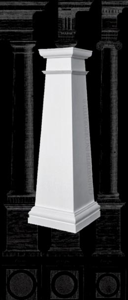 PolyStone® Column | Plain, Square, Tapered Craftsman Style Composite Column