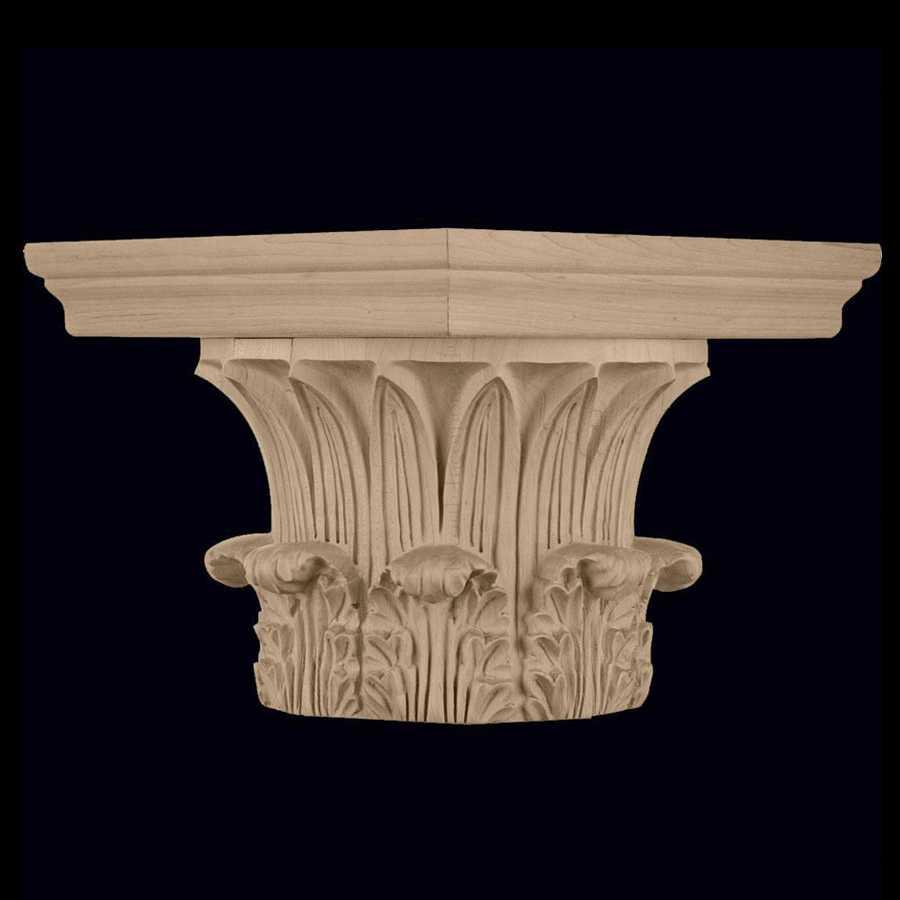 Corinthian order greek wood carved round column