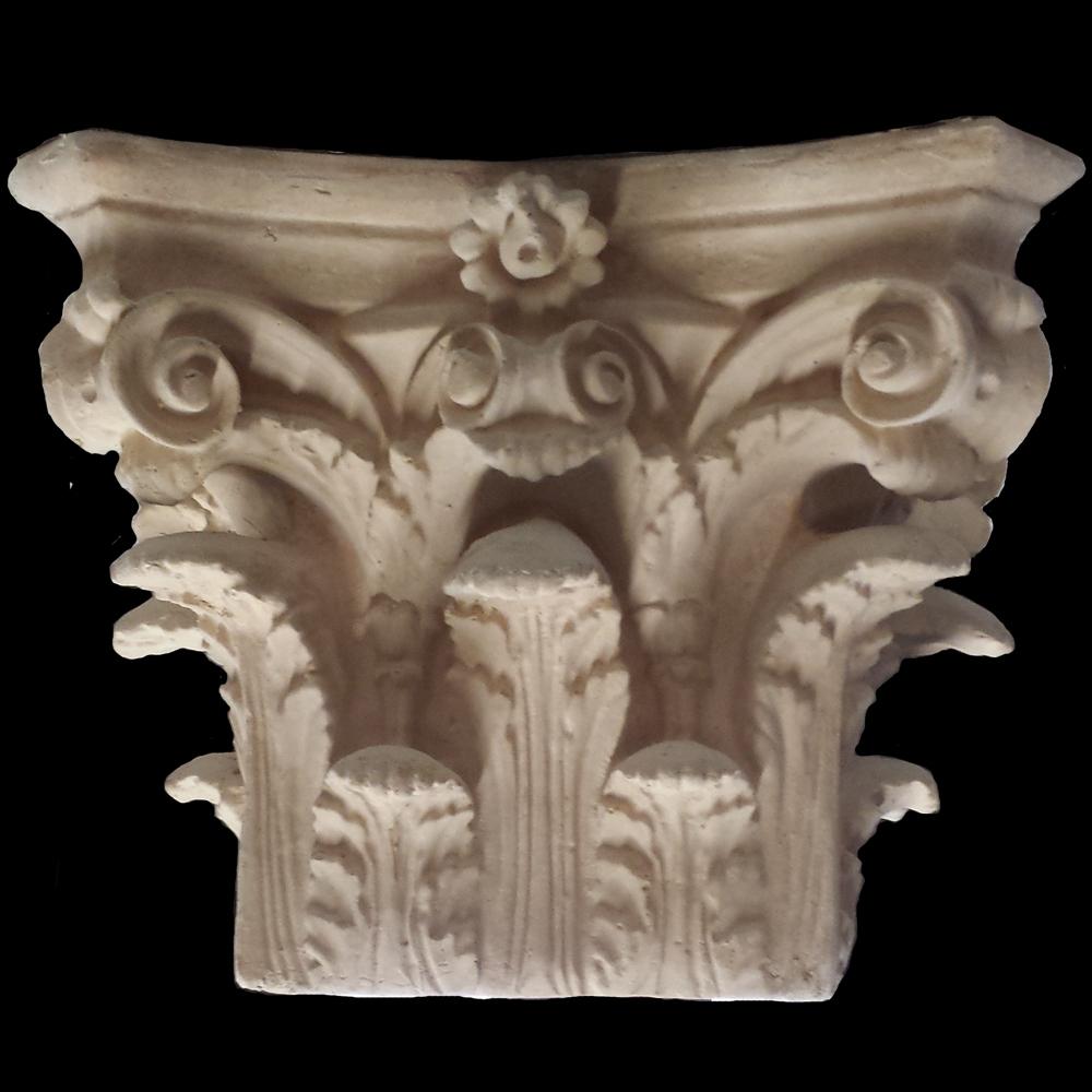 Roman Corinthian Square Cast Resin Capitals Exterior