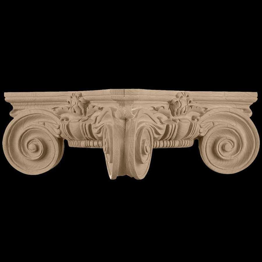 Ionic order roman scamozzi capital design wood