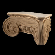 Greek Angular Ionic Minerva Polias Wood Capital - interior Wood Capitals
