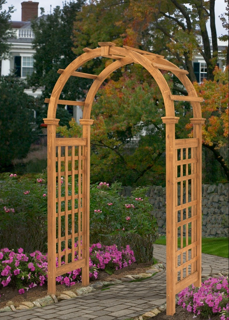 Rosewood Arbor - Wooden Outdoor Arbor Design