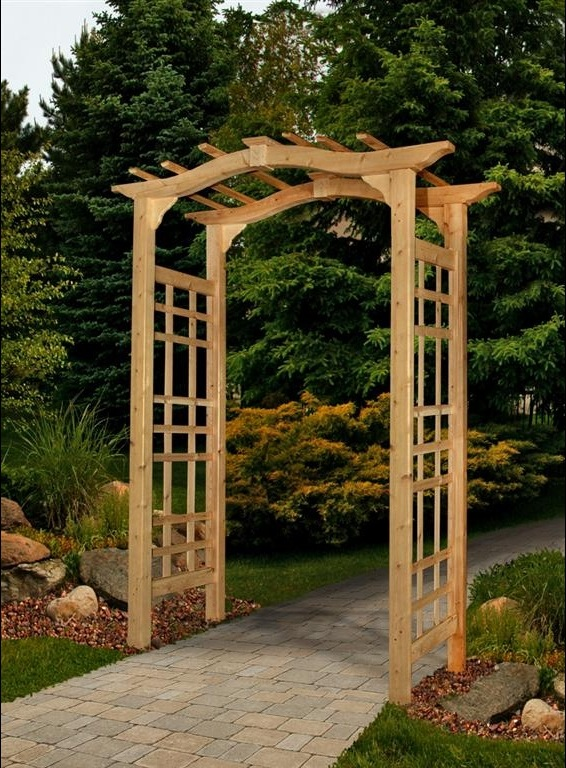 Pin by kelsey lynn on 7 wedding pinterest for Timber garden arch designs