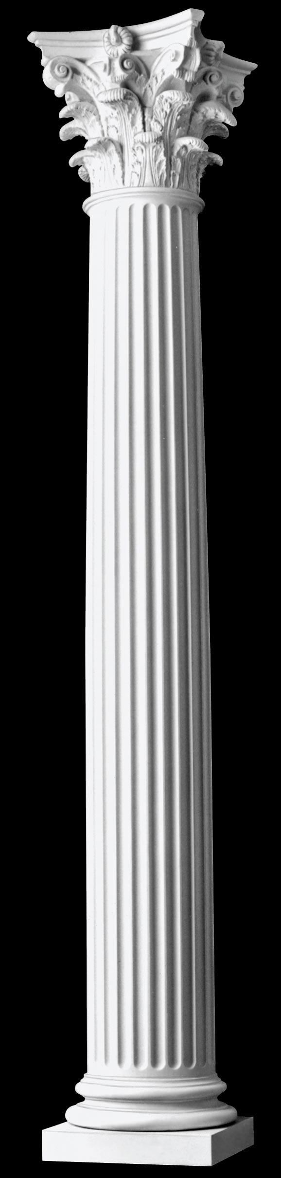 Architectural columns fluted roman corinthian wood columns for Architectural wood columns