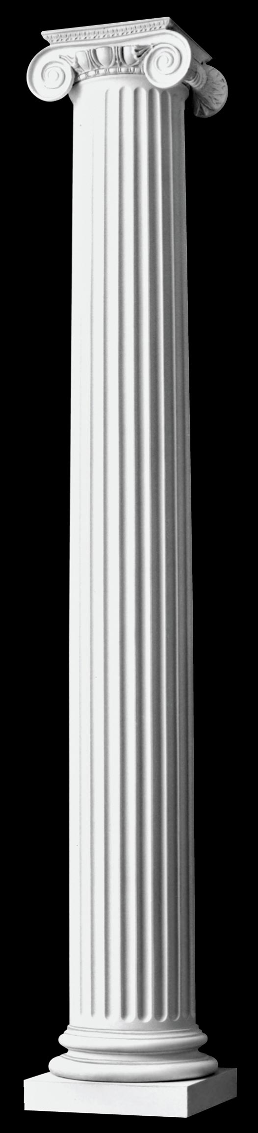 Authentic replication roman ionic wood columns fluted for Architectural wood columns
