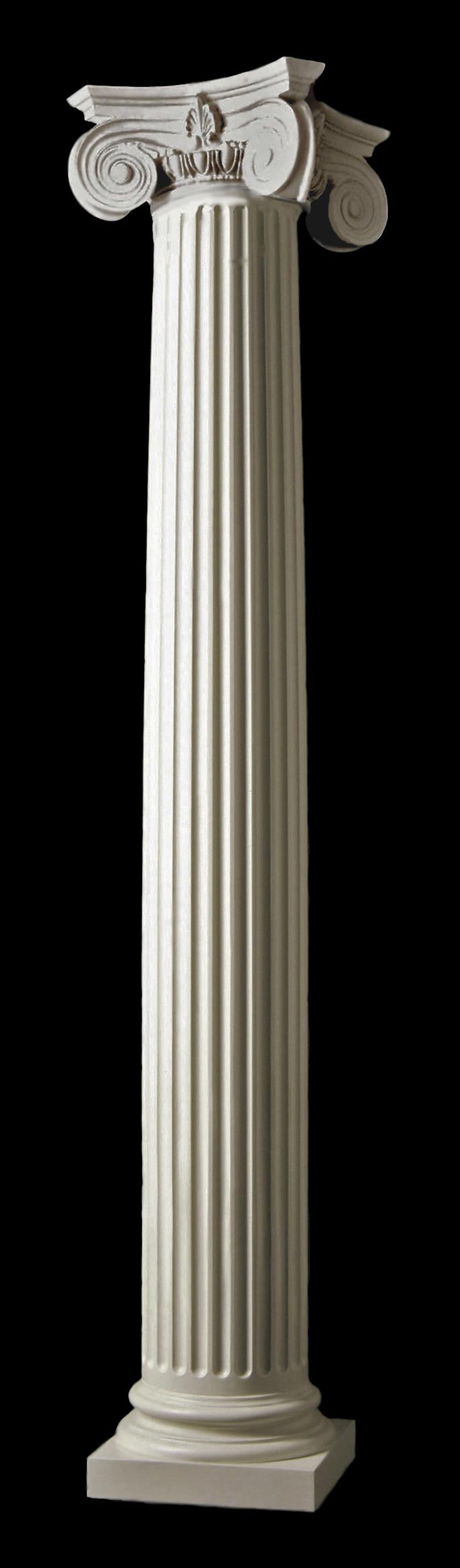 Architectural Column Base : Empire wood columns attic base chadsworth s