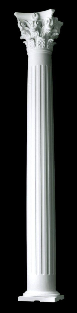 Classic wood column collection builder grade exterior columns for Fluted fiberglass columns