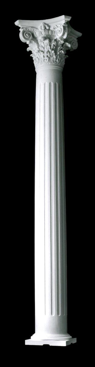 Structural Fiberglass Columns : Modern composite fluted tapered builder grade wood columns