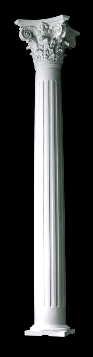 Modern Columns modern composite, fluted, tapered builder grade wood columns