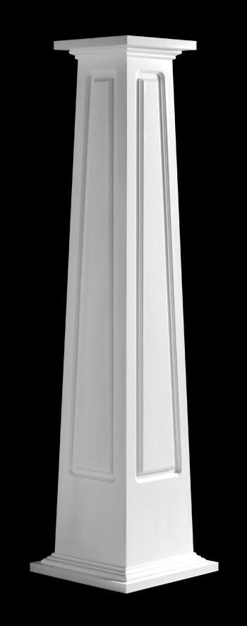 Advanced cellular vinyl porch columns columns by chadsworth for Tapered craftsman columns