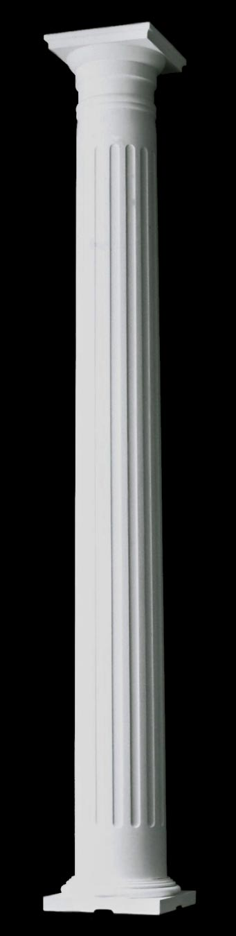 Small Tuscan Style Fluted Colonial Wood Columns