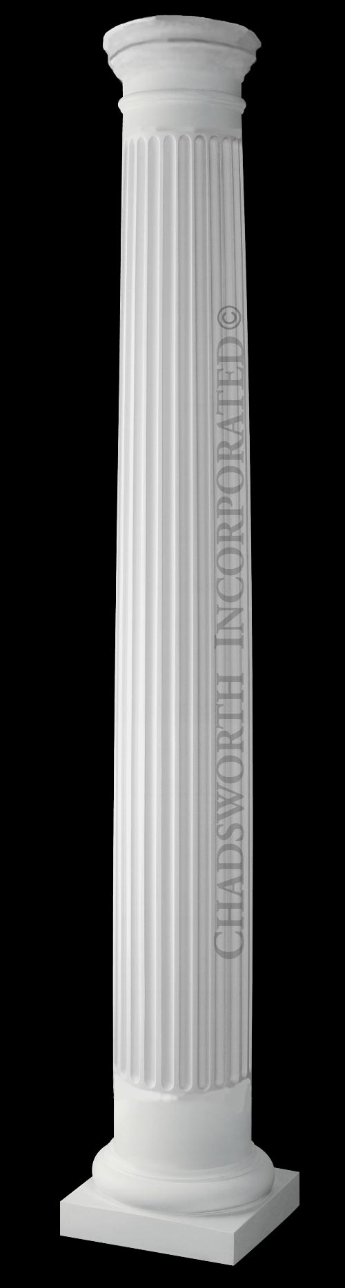 Classic Stone Column Fluted Round Tuscan Column With