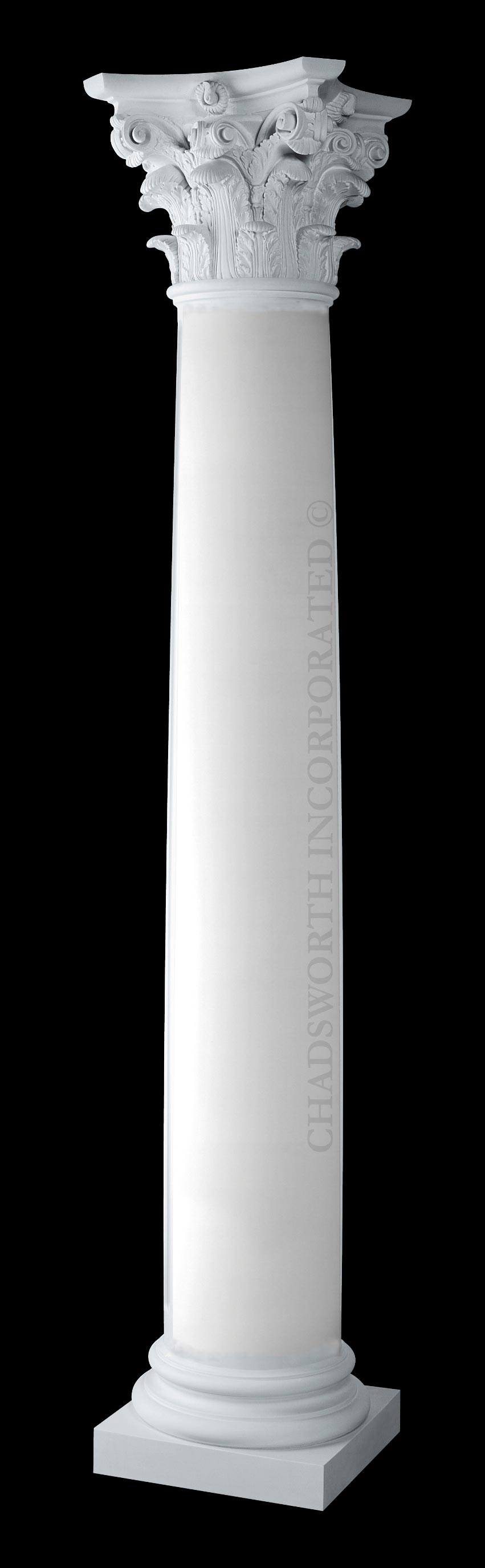 Classic stone exterior columns plain structural roman for Columns designs