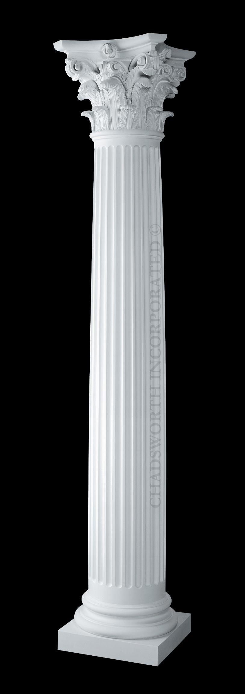 Classic Stone Columns Fluted Round Roman Corinthian