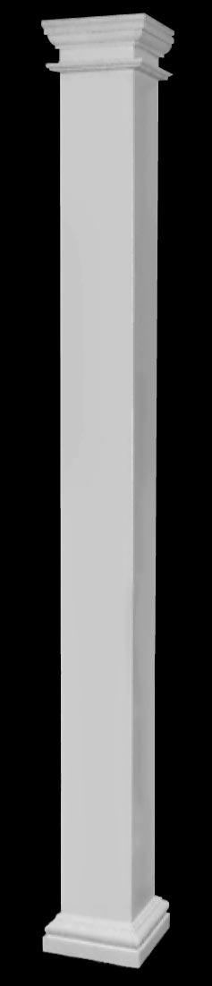 Columns frp composite fiberglass square columns for Fiberglass square columns
