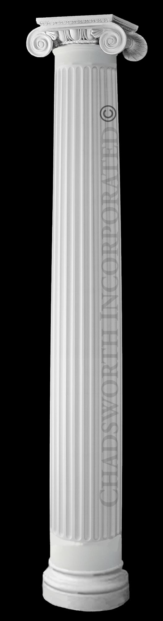 Design 645 rb ionic order roman frp composite for Tapered columns
