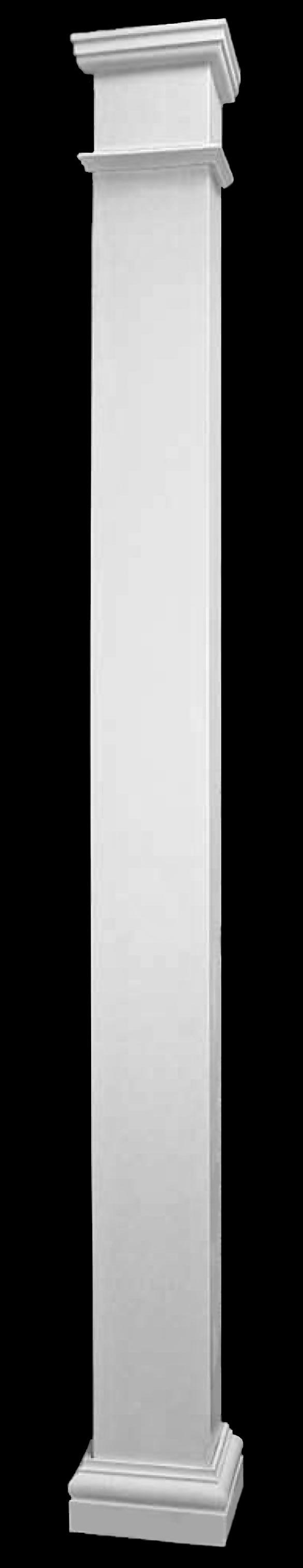 Fiberglass columns square lightweight columns by for Fiberglass square columns