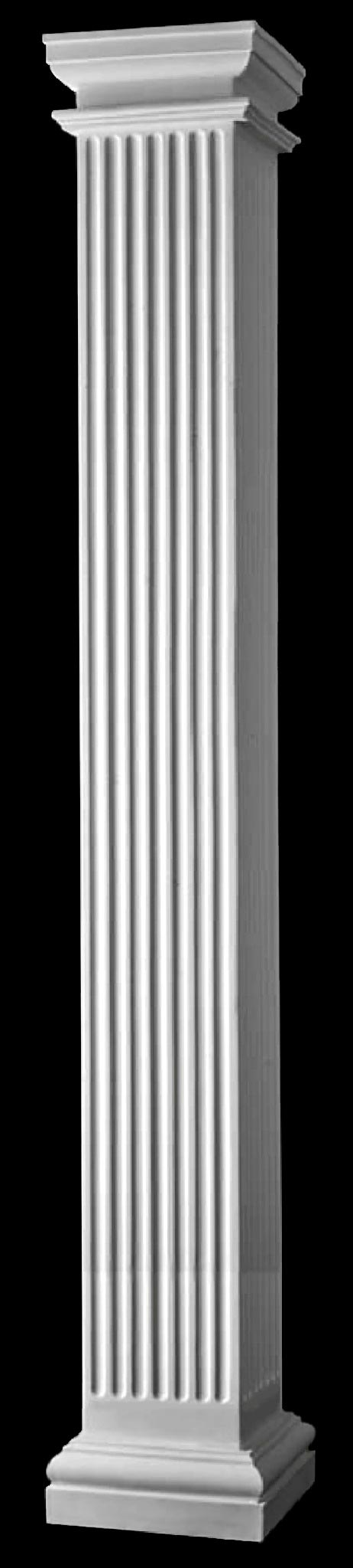fluted columns square non tapered columns large