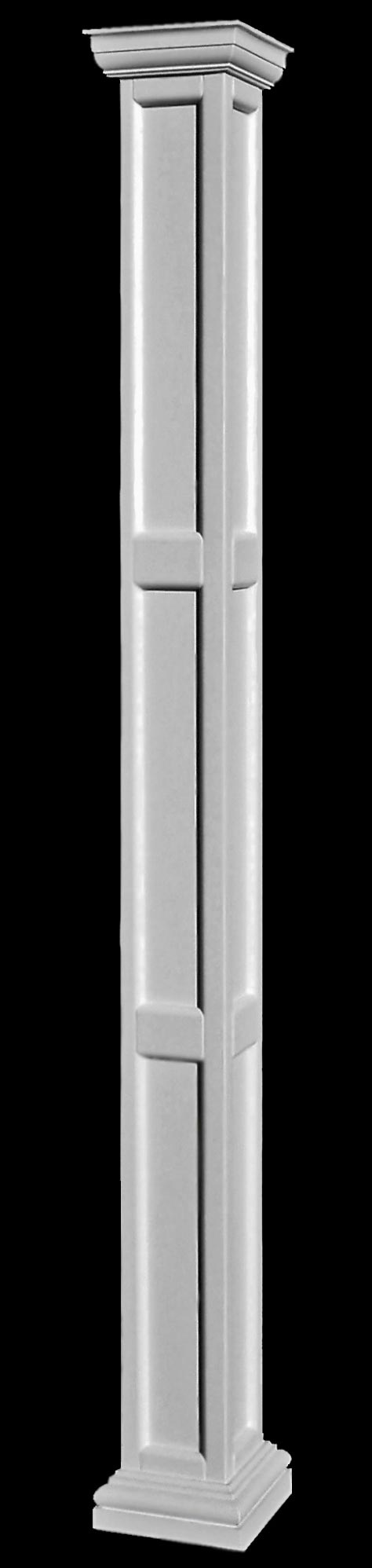 Square recessed panel fiberglass columns for Fiberglass architectural columns
