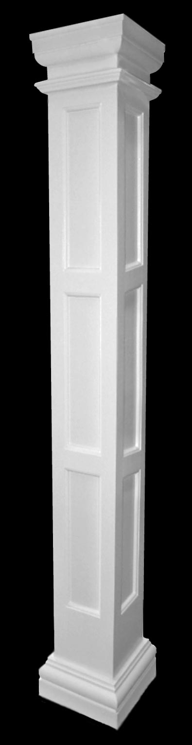 Fiberglass Column Caps : Chadsworth columns fiberglass triple recessed