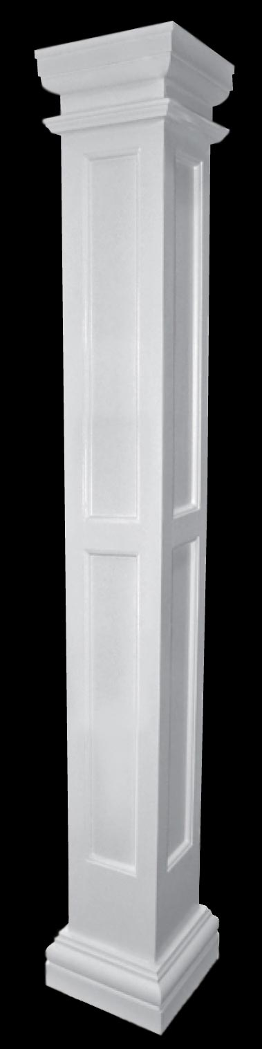 Fiberglass Column Caps : Chadsworth columns recessed panel fiberglass column with
