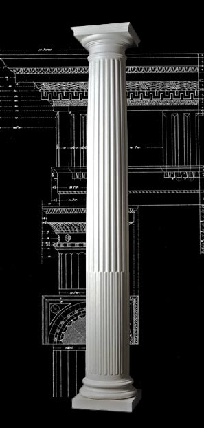 Cabled Fluting Roman Doric Wood Column