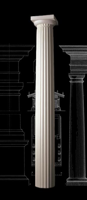 Reeded Fluting Tuscan Wood Column