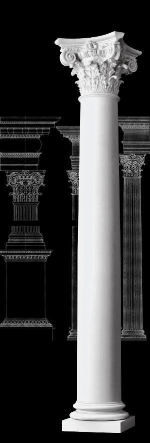 Composite order wood columns chadsworth 39 s 1 800 columns for Fiberglass architectural columns