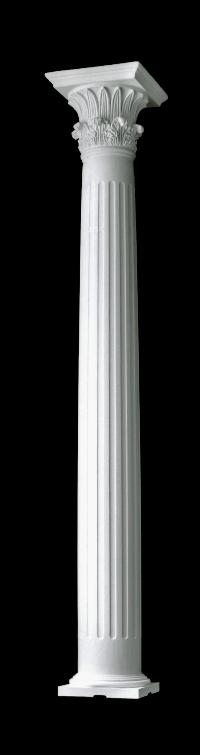 Structural wood columns builder grade greek corinthian for Fluted fiberglass columns