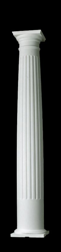 Fluted Tuscan Style Wood Columns, Builder Grade Quality, Chadsworth Columns