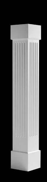 Porch columns fluted boxed exterior vinyl columns for Fluted fiberglass columns