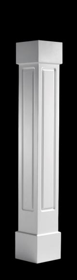Square, Raised Panel Porch Columns