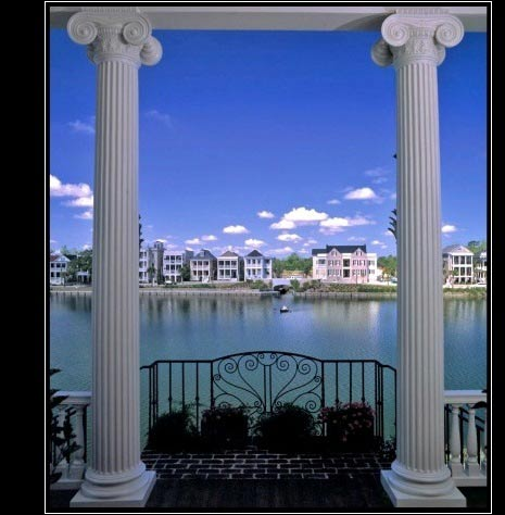 Polystone columns architectural decorative composite for Fiberglass interior columns