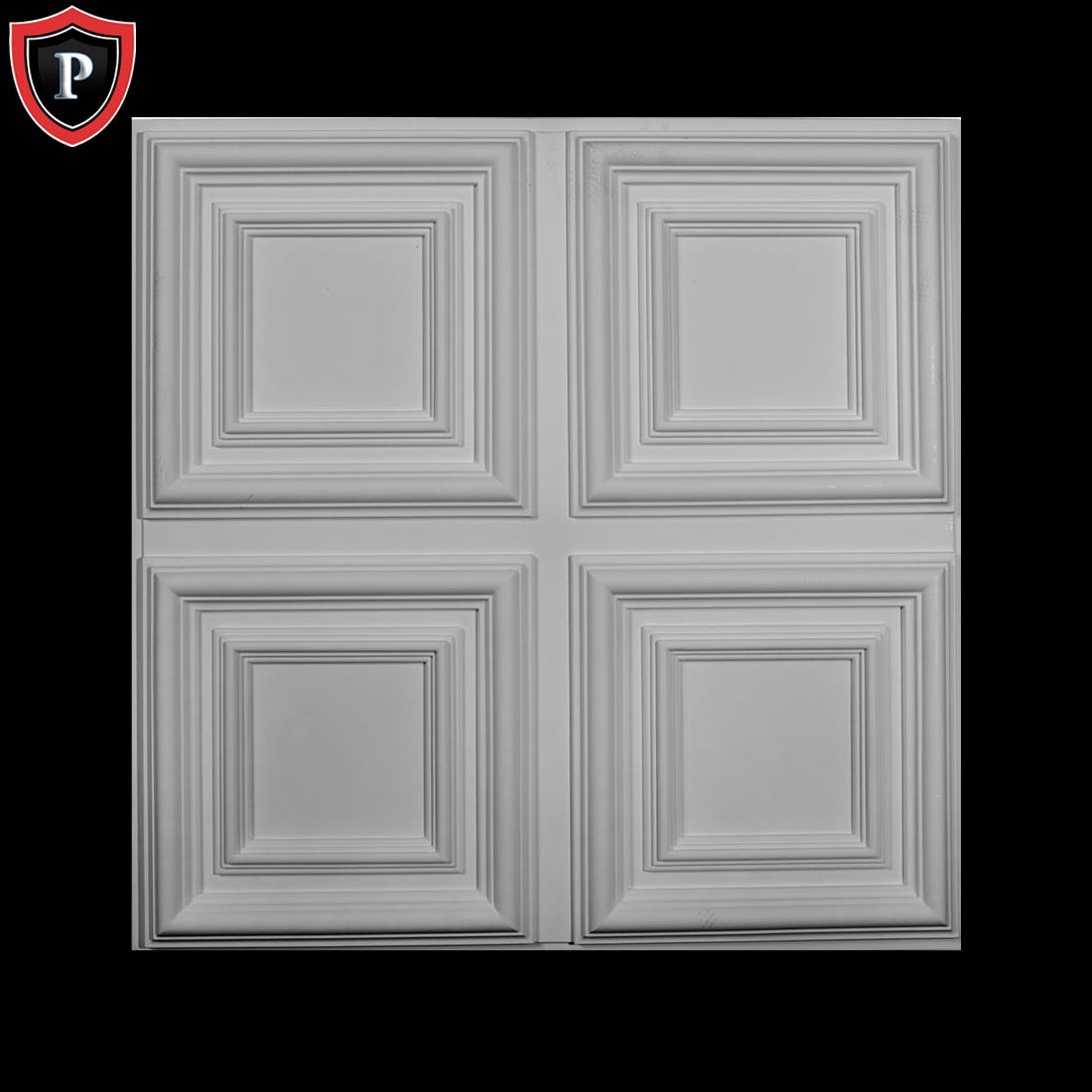 Chadsworth inc offers lightweight economical polyurethane ceiling 23 34w x 23 34h x 1 58p quatro ceiling tile polyurethane material design ct 24 qua py 24 shoplumns dailygadgetfo Image collections