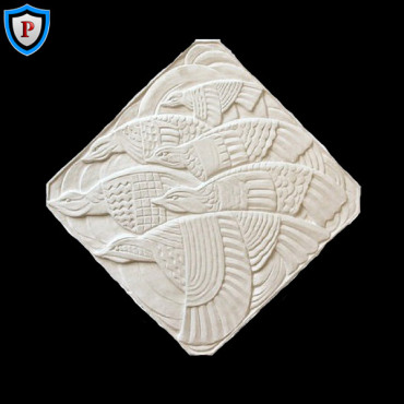 Plaster Art Deco Wall Plaque