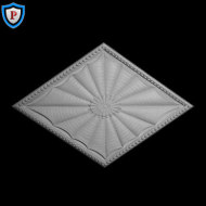 Colonial Diamond Plaster Medallion