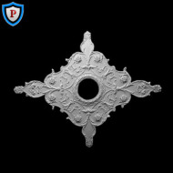Italian Diamond Plaster Medallion