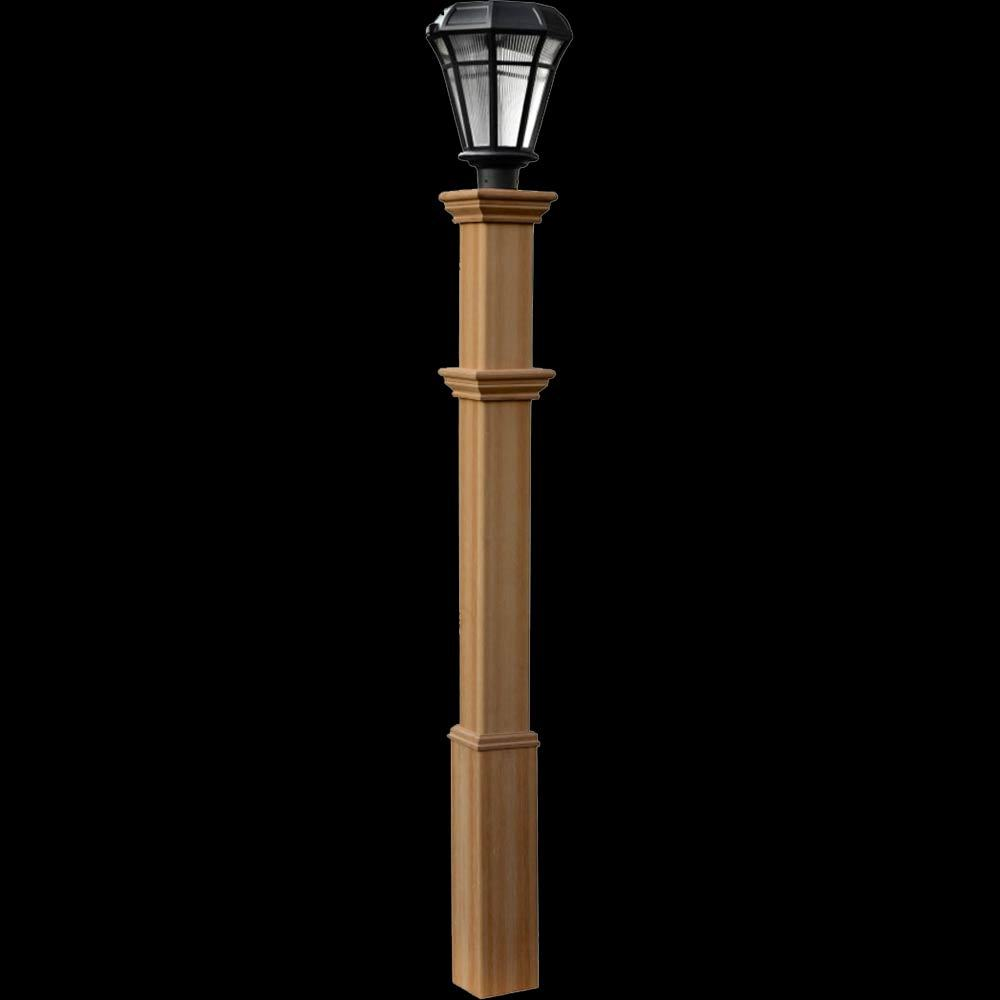 outdoor light posts wood home decor