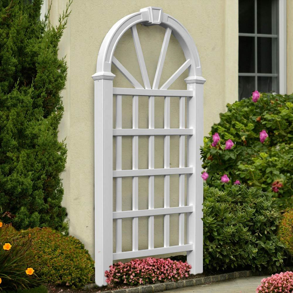 Hanover trellis design advanced vinyl garden trellises for Garden trellis designs