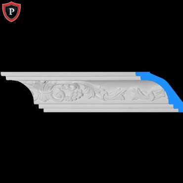 our ornate urethane crown molding is simple to install