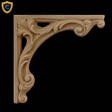 Elegant Decorative Composition Stair Brackets | Design #SB F966 6