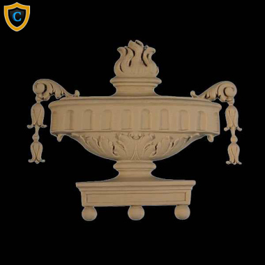 Colonial Urn Onlay Design, Accents, Fireplace & Mantel Accents