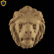 Animal Design - Decorative Lion's Head Design - Composition Material - (W): 2-3/4