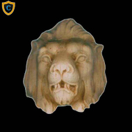 Animal Design - Decorative Lion's Head Design - Composition Material - (W): 2-1/2