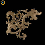 Animal Design - Chinese Serpent Design - Composition Material - (W): 22-3/4