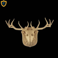 Animal Design - Decorative Elk Design - Composition Material - (W): 15-1/4