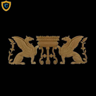 Composition Applique For Wood - Griffin Design - (W): 19-1/2