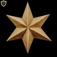 Decorative Star Applique, Compo