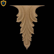 Decorative Acanthus Leaf Accent Designs Made from Composition Material