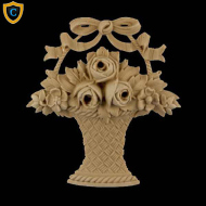Decorative Rose Basket Accents, Chadsworth Columns